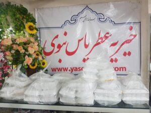 توزیع 1000 پرس غذای نذری در اربعین